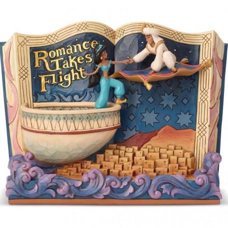 "Enesco Disney Traditions Storybook - Aladdin et Jasmine ""Romance Takes Flight"""