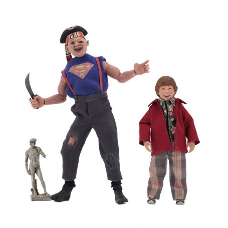 Neca Retro Cloth - Les Goonies pack 2 figurines - Cinoque & Choco - Sloth & Chunk