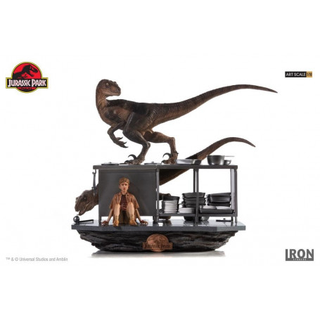 Iron Studios - Jurassic Park diorama 1/10 Art Scale Velociraptors in the Kitchen - 33 cm