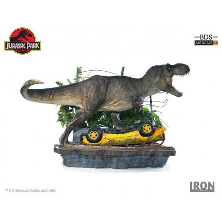 Iron Studios - Jurassic Park diorama 1/10 Art Scale - T-Rex Attack Set A 56 cm