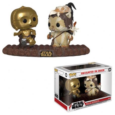 Funko POP 294 - Movie Moments - Starwars - C-3PO on Throne - Encounter on Endor