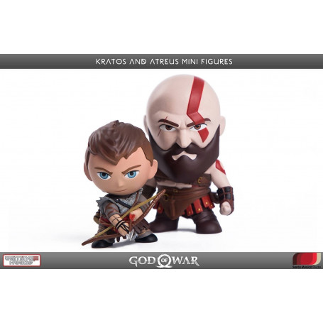 Gaming Heads -God of War pack 2 figurines PVC Kratos & Atreus 7 - 9 cm