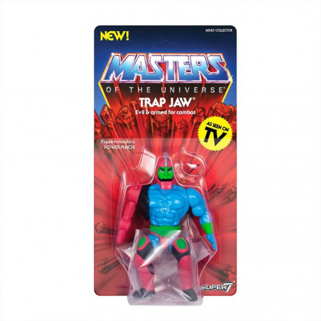 Masters of the Universe - Les Maîtres de l'Univers - Vintage Collection figurine Trap Jaw - Dentos - 14 cm