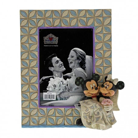 Enesco Disney - Cadre Photo de Mariage Mickey et Minnie Mouse