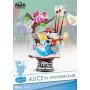 Beast Kingdom Alice au pays des merveilles diorama PVC D-Select