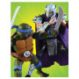 Neca - TMNT - Teenage Mutant Ninja Turtles - Les Tortues Ninja - Pack Leonardo vs Shredder - 16cm