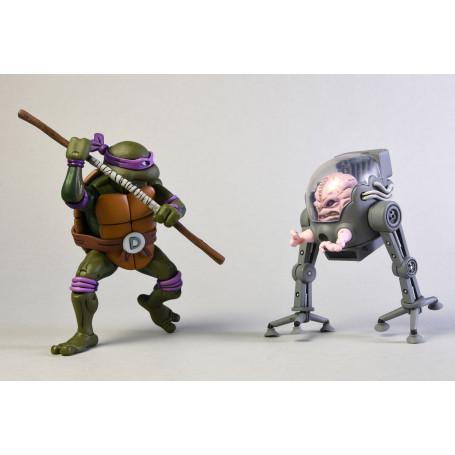 Neca - TMNT - Teenage Mutant Ninja Turtles - Les Tortues Ninja - Pack Donatello vs Krang in Bubble Walker - 16cm