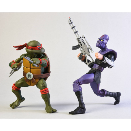 Neca - TMNT - Les Tortues Ninja - Pack Raphael vs Foot Soldier