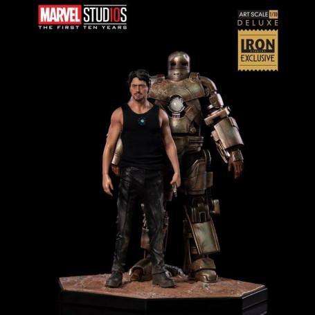 Iron Studios Marvel - Iron Man - Tony Stark and Mark I - BDS Art Scale 1/10 Deluxe CCXP 2018 Exclusive