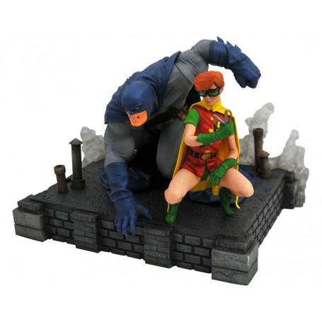Diamond Select DC Gallery - Figurine PVC - Frank Miller's The Dark Knight Returns - Batman & Robin - 20cm