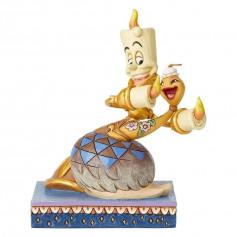 Enesco Disney Traditions Jim Shore - La belle et la Bête - Lumiere et Plumette