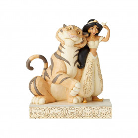 Enesco Disney Traditions - Jasmine WHITE WOODLAND
