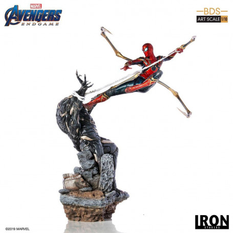 Iron Studios Marvel - Avengers Endgame - Iron Spider vs Outrider - BDS Art Scale 1/10 - 36cm