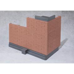 Bandai Tamashii - Option Brick Wall - Brown version - Mur Diorama