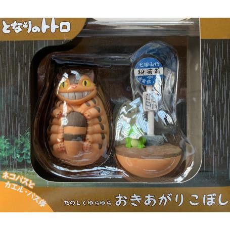 Mon voisin Totoro - Set de 2 Culbutos Chatbus - Arret de bus