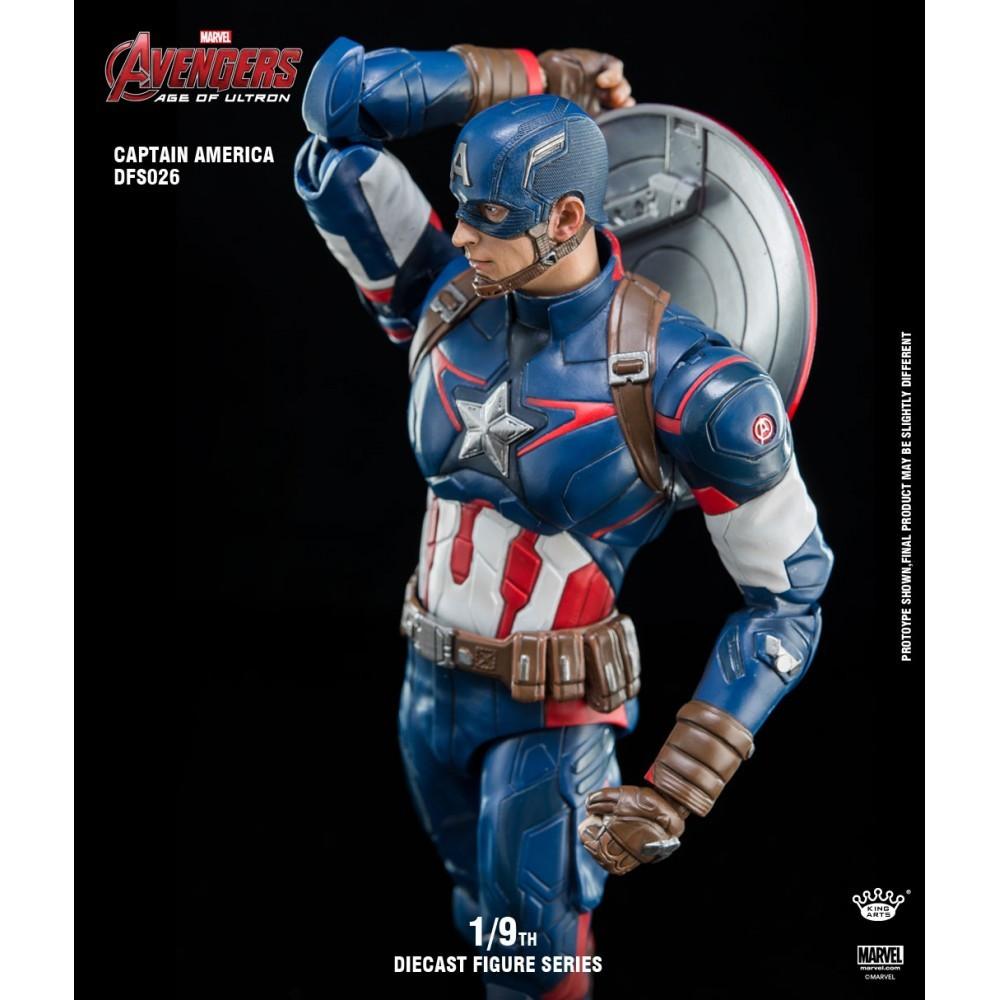 King Arts  Marvel Avengers: Age of Ultron die cast 22c 1//9 Captain America