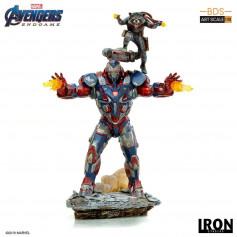 Iron Studios Marvel - Avengers Endgame - Iron Patriot & Rocket - BDS Art Scale 1/10 - 28cm