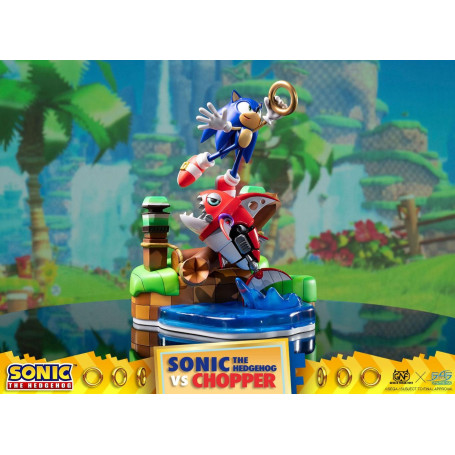 First 4 Figures - Sonic Generations diorama - Sonic vs Chopper - 28 cm