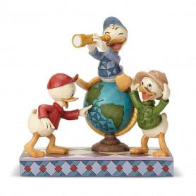 Enesco Disney Traditions - Riri Fifi et Loulou Globe Trotteur