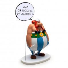 """Asterix statuette - Collectoys Collection - Bulles Obelix """"oui je boude"""" - 15cm"""
