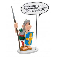 """Asterix statuette - Collectoys Collection - Bulles Legionnaire """"Engagez-vous"""" - 15cm"""