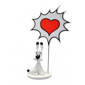 "Asterix statuette - Collectoys Collection - Bulles Idefix ""Coeur"" - 15cm"