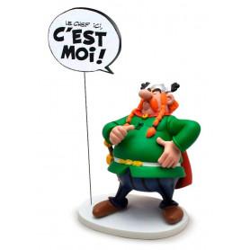 """Asterix statuette - Collectoys Collection - Bulles Abraracourcix """"Le Chef ici, C'EST MOI!"""" - 15cm"""