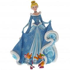 Disney Haute Couture - Statue Cendrillon en robe d'hiver avec Gus et Jack - 21cm