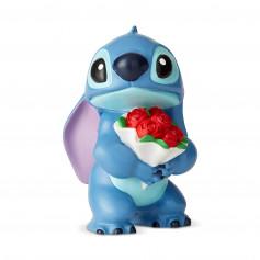 Disney Traditions Lilo et Stich - Stitch bouquet de roses - 9cm