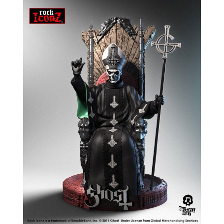 Knucklebonz - Ghost statuette Rock Iconz Papa Emeritus II - 22 cm