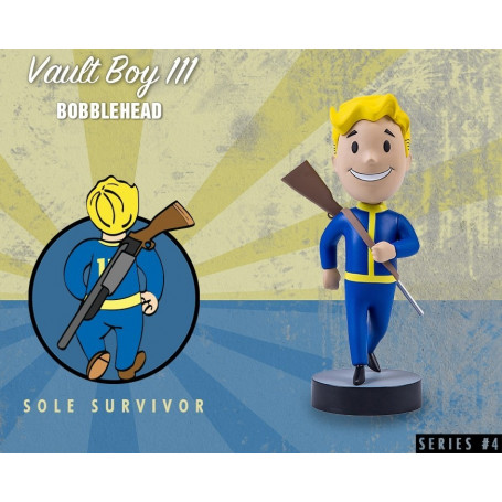 Gaming Head Fallout 4 Serie 4 Bobble Heads Vault Boy 111 - Sole Survivor