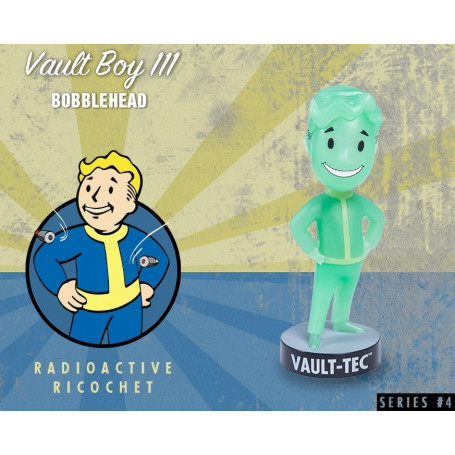 Gaming Head Fallout 4 Serie 4 Bobble Heads Vault Boy 111 - Radioactive Ricochet