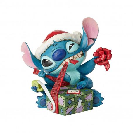 Enesco - Disney Tradition by Jim Shore - Lilo et Stich - Stitch et le cadeau