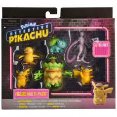 Pokémon - Détective Pikachu multi-pack 6 figurines