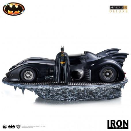 Iron Studios Statue Deluxe Art scale 1/10 - Batman 1989 -Batman & Batmobile