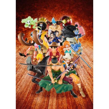 Bandai/Tamashii - SHF 0 - FIGUARTS - ONE PIECE - DIORAMA de 11 FIGURINES.