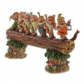 Enesco Disney Traditions - Blanche Neige et les 7 Nains - les 7 nains rentrant du boulot