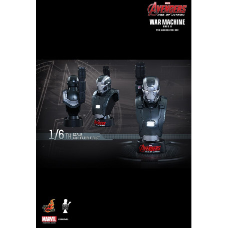 Hot Toys Avengers: Age of Ultron - 1/6 scale Collectible Bust - War Machine Mark II - 12cm