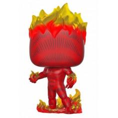 Funko POP! Marvel 80th - Fantastic 4 - Human Torch - la Torche humaine (First Appearance) - 9 cm