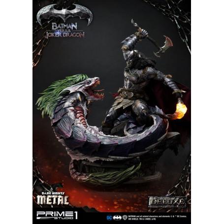 Prime One Studio - Dark Nights : Metal statuette Batman Versus Joker Dragon Deluxe Ver. - 87 cm