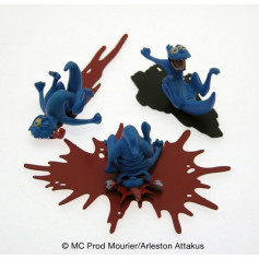 Attakus - Troll de Troy - Pack de 3 schfoumpfs n°1 - 4cm