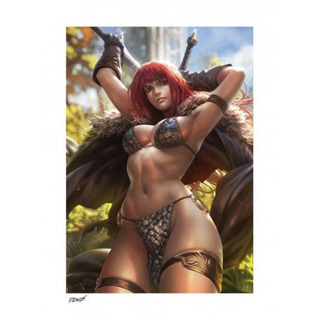 Sideshow - Dynamite Entertainment impression Art Print - Red Sonja by Derrick Chew - 61 x 46 cm - non encadrée