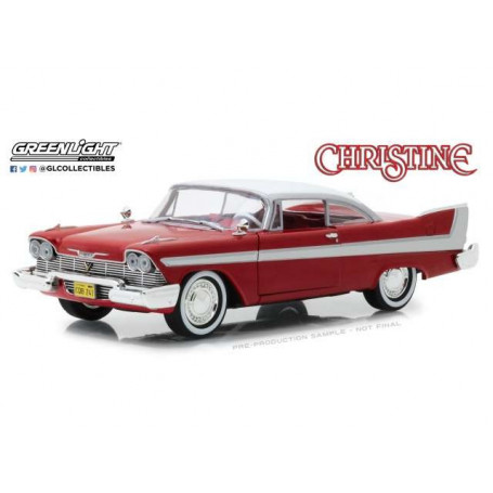 Greenlight - CHRISTINE - John Carpenter - 1958 Plymouth Fury - 1/24 Diecast