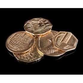 Weta Workshop - Le Hobbit - réplique 1/1 - SMAUG'S TREASURE - Set de 5 pieces d'or