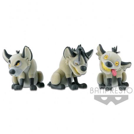 Banpresto Disney Fluffy Puffy - Le Roi Lion - The Lion King - Les 3 Hyenes Shenzi Ed Banzaï - 7cm