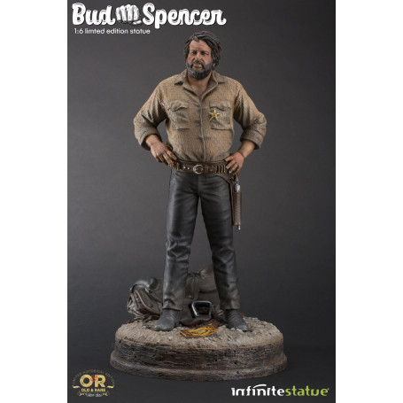 Infinite Statue - Bud Spencer 1/6 - Old And Rare - 37cm