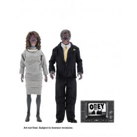 Neca - Retro Cloth - They Live - Invasion Los Angeles - Alien Double Pack -20cm