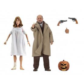 NECA - Halloween 2 - Doctor Loomis & Laurie Strode - Retro Cloth - 20cm