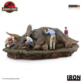 Iron Studios - diorama Triceratops - Jurassic Park Statuette Deluxe 1/10 Art Scale - 74 cm