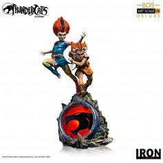 Iron Studios - BDS Art Scale 1/10 DX- Thundercats - Wilykit & Wilykat - Cosmocats - 20cm
